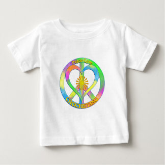 Peace Love Crocheting Baby T-Shirt
