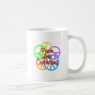Peace Love Crocheting Coffee Mug