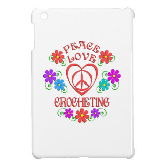 Peace Love Crocheting iPad Mini Cover