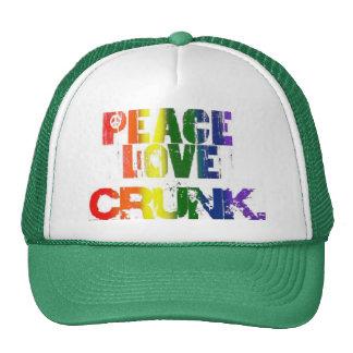 PEACE, LOVE & CRUNK TRUCKER HAT
