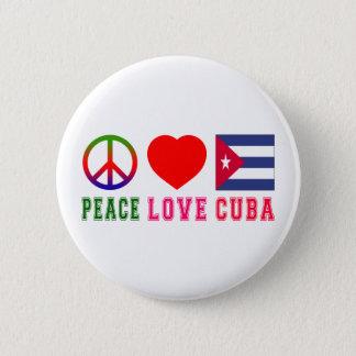 Peace Love Cuba 2 Inch Round Button