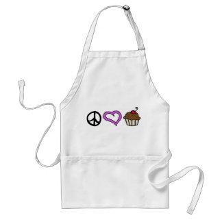 Peace Love Cupcakes Apron -Purple