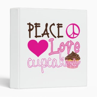 Peace, Love, Cupcakes Binder