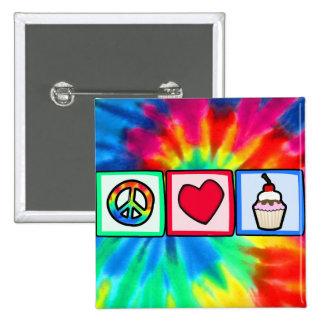 Peace, Love, Cupcakes Button
