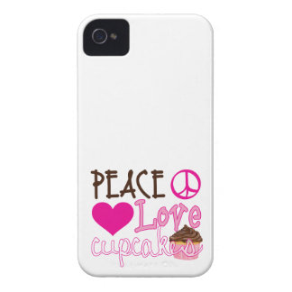 Peace, Love, Cupcakes iPhone 4 Case