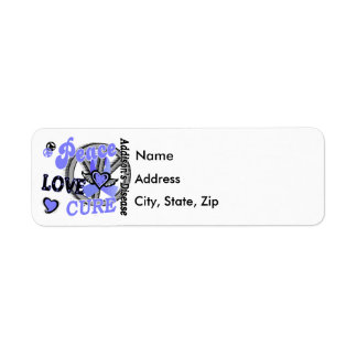 Peace Love Cure 2 Addison's Disease Return Address Label