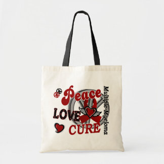 Peace Love Cure 2 Multiple Myeloma Budget Tote Bag