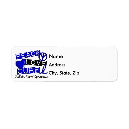 Peace Love Cure Guillain Barre Syndrome Return Address Label