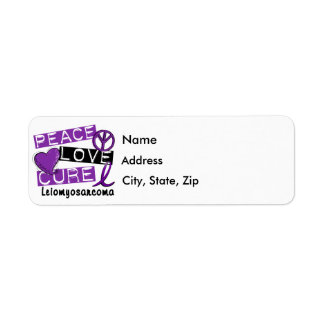 Peace Love Cure Leiomyosarcoma Return Address Label