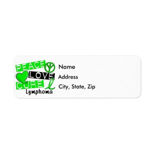 Peace Love Cure Lymphoma Return Address Label