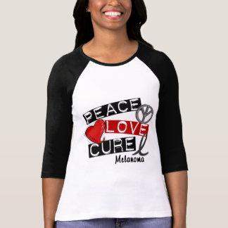 PEACE LOVE CURE MELANOMA T-Shirt