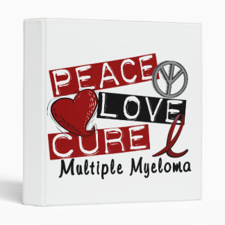Peace Love Cure Multiple Myeloma Vinyl Binder