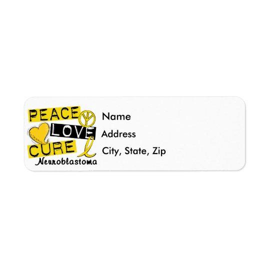 Peace Love Cure Neuroblastoma Return Address Label