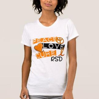 Peace Love Cure RSD Reflex Sympathetic Dystrophy T-Shirt