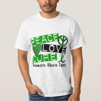 Peace Love Cure Traumatic Brain Injury TBI T-Shirt