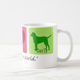 Peace Love Curly Retriever Coffee Mug
