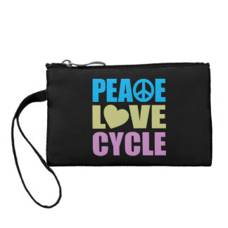 Peace Love Cycle Change Purses