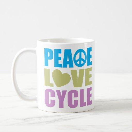 Peace Love Cycle Coffee Mug