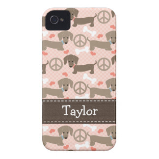 Peace Love Dachshund Doxies 4 4s Case-Mate Cover