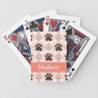 Peace Love Dachshund Poker Deck