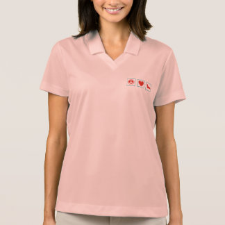 Peace Love Dachshunds Squares Polo Shirt