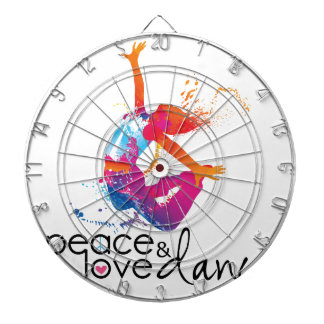 Peace & love Dance Dartboard