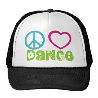 Peace Love Dance Trucker Hat