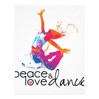 Peace & love Dance Letterhead