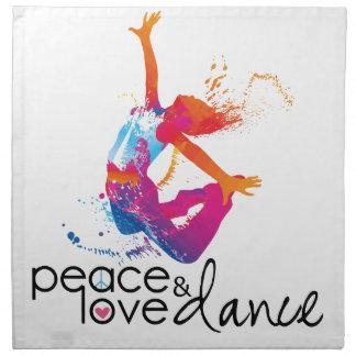 Peace & love Dance Napkin