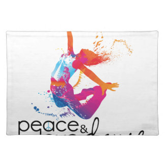 Peace & love Dance Placemat