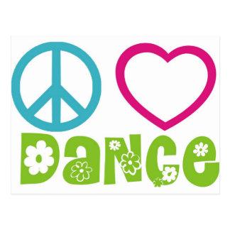 Peace Love Dance Postcards