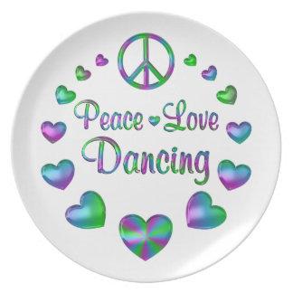 Peace Love Dancing Dinner Plate