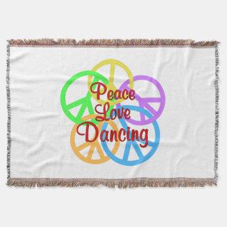 Peace Love Dancing Throw
