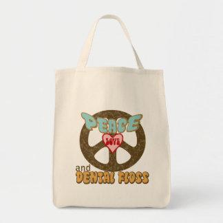 Peace Love Dental Floss Vintage