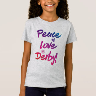 Peace Love Derby Famous Horse Race Festive T-Shirt