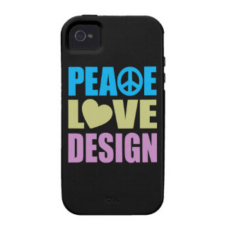 Peace Love Design Vibe iPhone 4 Cover
