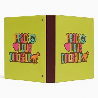 Peace Love Dinosaur Vinyl Binders