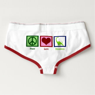 Peace Love Dinosaurs Briefs