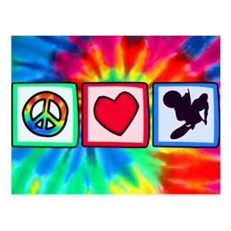Peace, Love, Dirt Bike Postcard