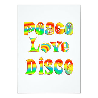 Peace Love Disco Card