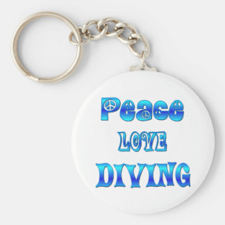 Peace Love Diving Keychain