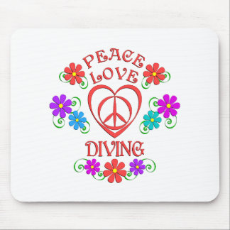 Peace Love Diving Mouse Pad