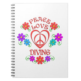 Peace Love Diving Notebook