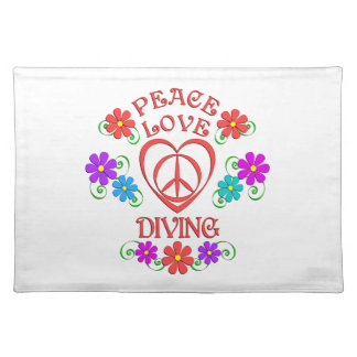 Peace Love Diving Placemat