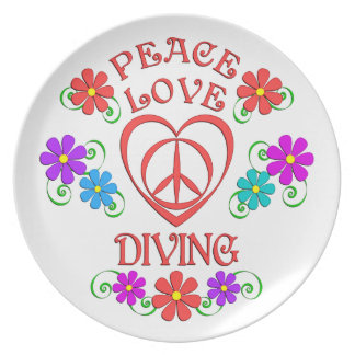 Peace Love Diving Plate