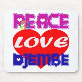 Peace Love djembe Mousepads