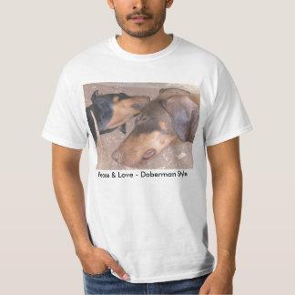 Peace & Love - Doberman Style T-Shirt