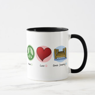 Peace Love Dock Jumping Mug