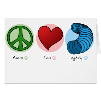 Peace Love & Dog Agility Card