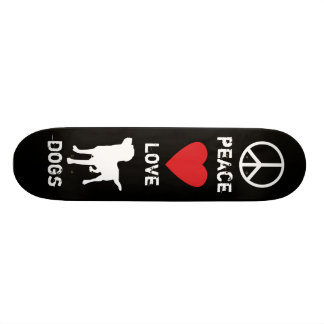 Peace Love Dogs Skateboard Deck